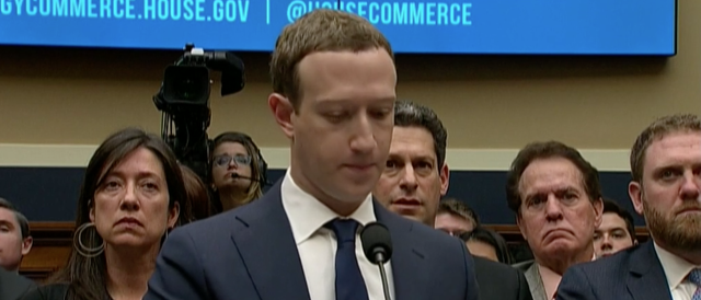 Facebook Mark Zuckerberg on day two of his Capitol Hill rounds, in front of the Senate.