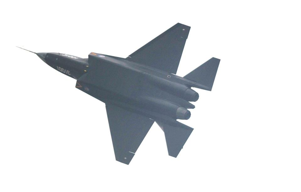 A Chinese FC-31 J-31 stealth fighter