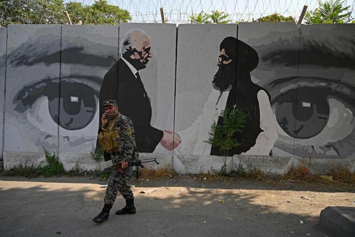 Image: A wall mural in Kabul. (Wakli Kohsar / AFP - Getty Images file)