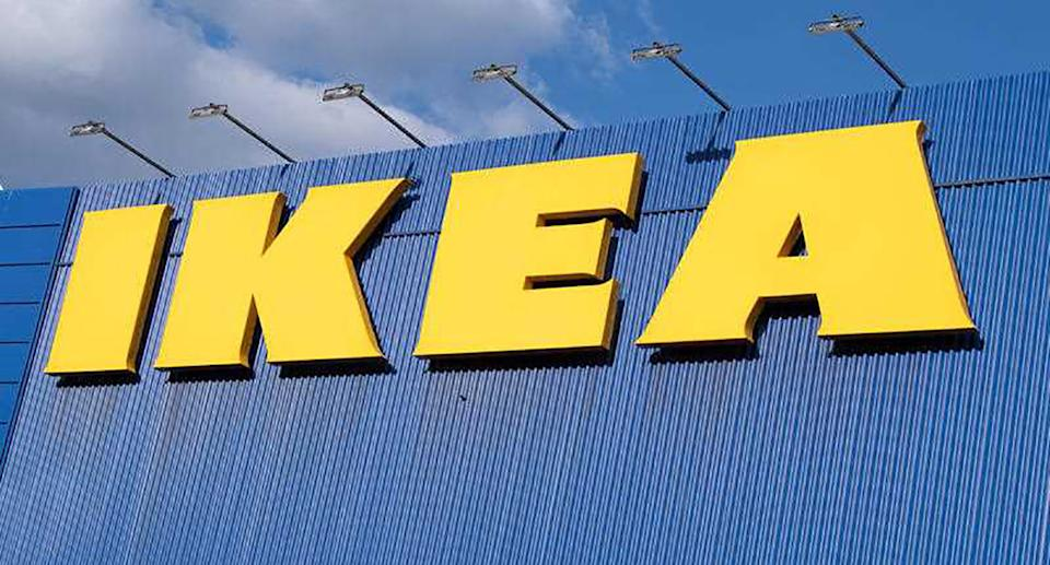 A shop sign of IKEA in Villiers sur Marne in France.