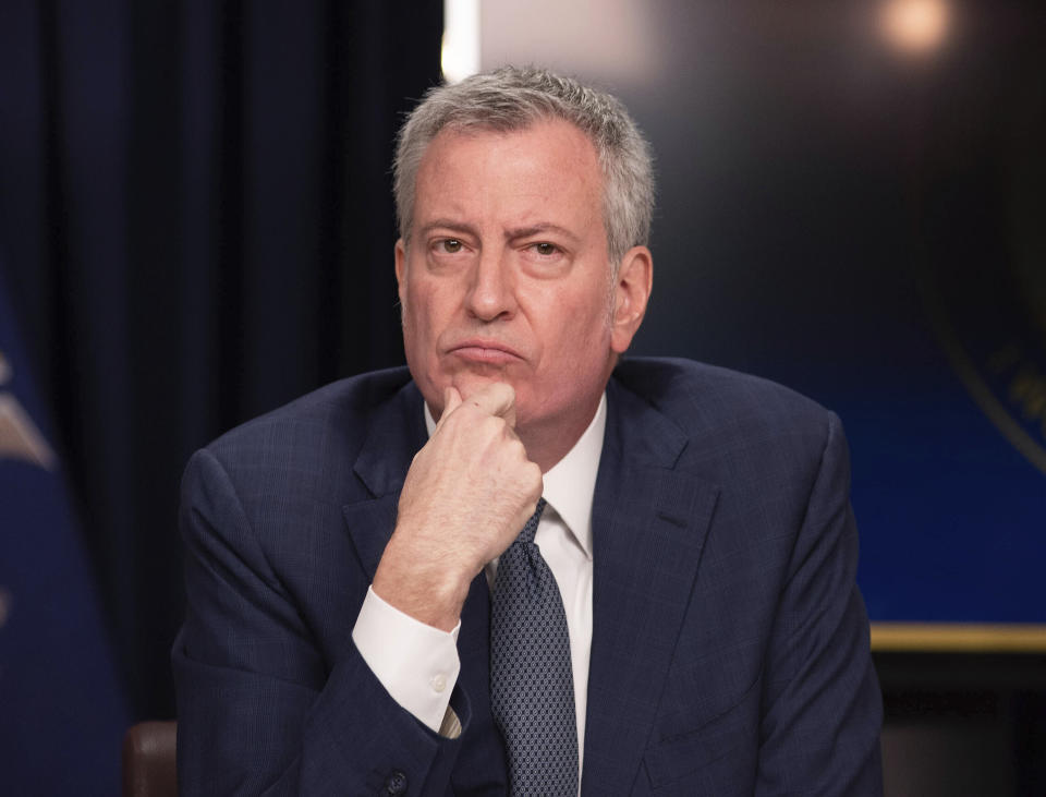 Mayor Bill de Blasio says NYC will mandate the COVID-19 vaccine to enter restaurants and fitness centers. (Photo by SBN/STAR MAX/IPx)
