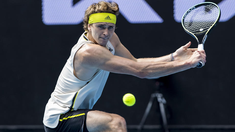 Alexander Zverev is through to the second round of the Australian Open. (Photo by Jason Heidrich/Icon Sportswire via Getty Images)
