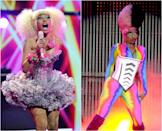 <p>We're all for eccentricities, but Nicki took it to the extreme when she first hit the music scene (so much so that we have to split her look into <i>two</i> slides). The rapper used to favour dramatic outfits, overtly-bright hair colours and bold makeup. <i> (Photos: Getty, 2011/2012) </i> </p>