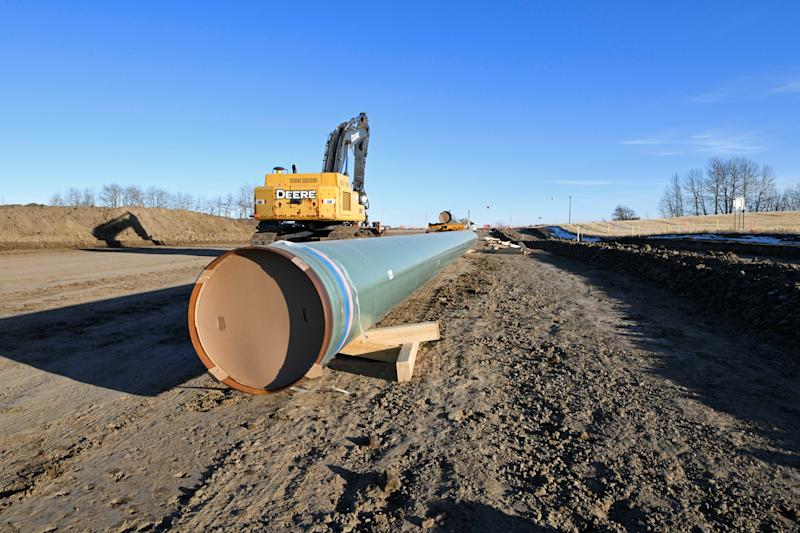 The expansion of the Canadian government-owned Trans Mountain oil pipeline advanced to a new construction stage, in Acheson, Alberta, Canada December 3, 2019. REUTERS/Candace Elliott