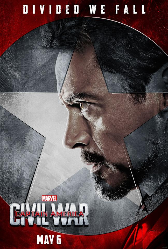"""<p>After serving as the main star and leading man of the Marvel Cinematic Universe for so many years, Tony Stark is playing the quasi-antagonist in <i>Civil War</i>, as the man working to get superheroes to register with the government. He's quite a baddie in the comic-book arc, which was hard for star Robert Downey Jr. to accept. """"It's difficult for me to think of Tony in those terms,"""" he <a href=""""https://www.yahoo.com/movies/the-godfather-of-superhero-movies-on-the-set-170634774.html?soc_src=mail&soc_trk=ma"""">told us</a>. """"But when you read the comic, it's like, 'Man, Tony, you're blowing it dude!'""""</p>"""