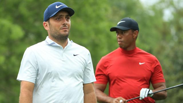 With nine holes remaining at the Masters, Tiger Woods was just one shot off the lead, which continued to be held by Francesco Molinari.