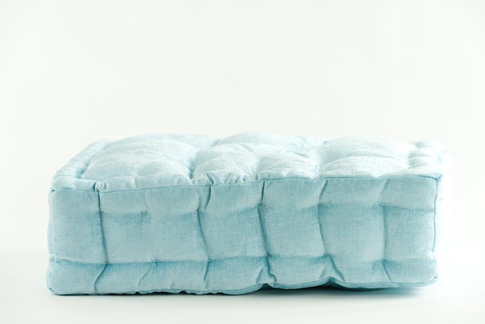 <p>This pastel-blue <span>Disney Princess X POPSUGAR Ariel Chenille Floor Pillow</span> ($30) is perfect for soft seating the next time you have a few friends over.</p>