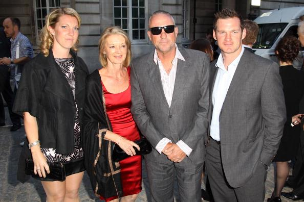 LONDON, ENGLAND - MAY 10:  (UK TABLOID NEWSPAPERS OUT) L-R Becky Botham, Kath Botham, Ian Botham and Liam Botham attend the World premiere of From The Ashes at the Curzon Mayfair on May 10, 2011 in London, England.  (Photo by Dave Hogan/Getty Images)