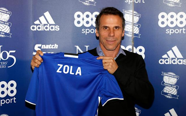 <span>Zola replaced Gary Rowett at the helm</span> <span>Credit: reuters </span>