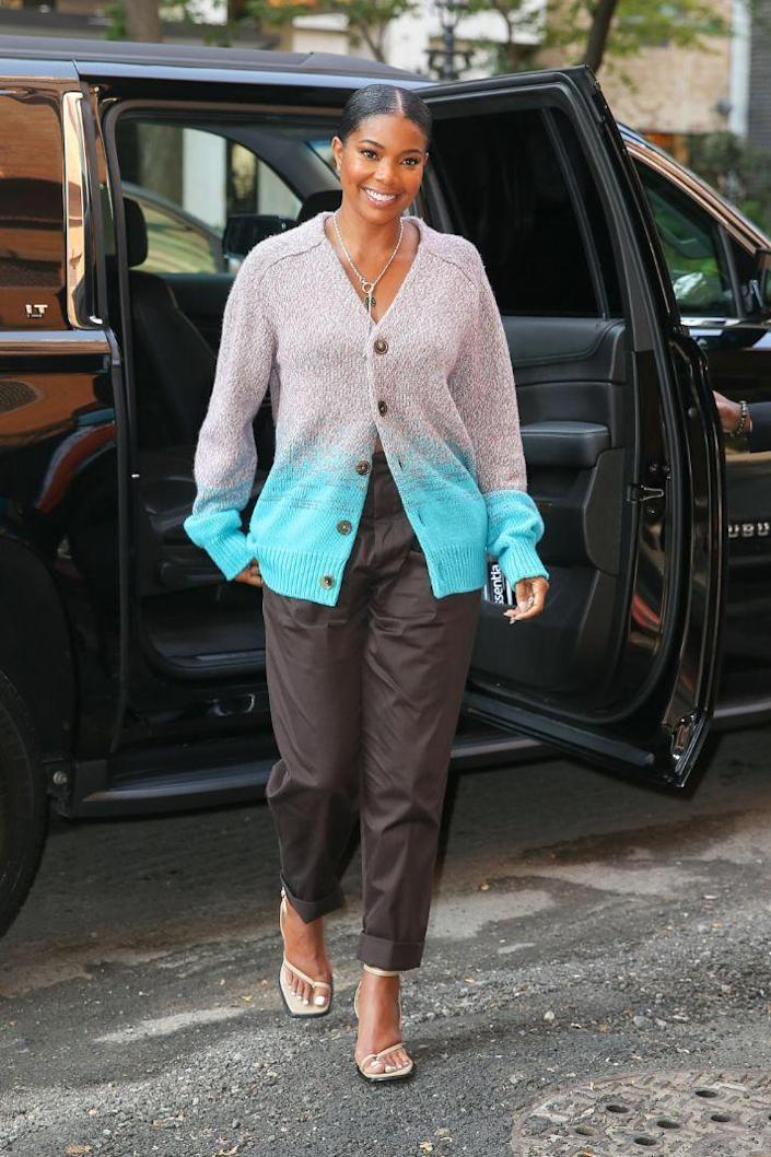 Gabrielle Union arrives at 'The View' in New York, Sept. 14. - Credit: ZapatA/MEGA