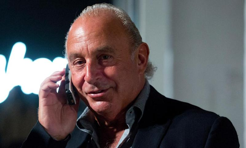 Sir Philip Green at London Fashion Week