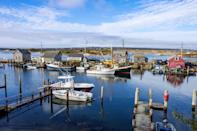 """<p><strong>3 hours from Boston, includes ferry</strong></p> <p>On the west side of <a href=""""https://www.cntraveler.com/stories/2016-08-09/the-perfect-weekend-on-marthas-vineyard?mbid=synd_yahoo_rss"""" rel=""""nofollow noopener"""" target=""""_blank"""" data-ylk=""""slk:Martha's Vineyard,"""" class=""""link rapid-noclick-resp"""">Martha's Vineyard,</a> you'll find the bucolic town of Chilmark, population 917. <a href=""""https://www.chilmarkma.gov/beach-committee/pages/beach-information"""" rel=""""nofollow noopener"""" target=""""_blank"""" data-ylk=""""slk:Lucy Vincent Beach"""" class=""""link rapid-noclick-resp"""">Lucy Vincent Beach</a> is Chilmark's crown jewel, but there's plenty to do in this rural Vineyard outpost besides spreading out in the sand. <a href=""""https://www.larsensfishmarket.com/"""" rel=""""nofollow noopener"""" target=""""_blank"""" data-ylk=""""slk:Larsen's Fish Market"""" class=""""link rapid-noclick-resp"""">Larsen's Fish Market</a>, a waterfront stalwart since 1969, serves fresh-shucked oysters on paper plates. Thursdays through Mondays, travelers can visit <a href=""""https://www.thegreybarnandfarm.com/"""" rel=""""nofollow noopener"""" target=""""_blank"""" data-ylk=""""slk:The Grey Barn"""" class=""""link rapid-noclick-resp"""">The Grey Barn</a>, a farm and creamery founded in 2009 that sells raw milk, eggs, vegetables, certified organic meats, and a full line of cheeses. Woodlands and wetlands define the roughly 185-acre <a href=""""http://www.mvlandbank.com/13waskosims_rock.shtml"""" rel=""""nofollow noopener"""" target=""""_blank"""" data-ylk=""""slk:Wasoskim's Rock Reservation"""" class=""""link rapid-noclick-resp"""">Wasoskim's Rock Reservation</a>, which is open for hiking, horseback-riding, mountain-biking, or, if you aren't in the mood to be active, just picnicking. Retire to a beachy room or bungalow at the quaint <a href=""""https://cna.st/affiliate-link/Fb1nPyBWjoYAPLtCDb1TMAUJPYbn2A2cqMthrEDLti4TkxMMyMeBUCVXftTm9Nv9bme2mhoi2Umi9W8b3oxsxCSS2139F5fFywEAwHPkhV9RwjHMXhAjiFtKTB2MGY7rawhDUVoHSpvakH2iVxBo21fC7DqcZ?cid=60a6aa1913475a76aa9426fd"""" rel=""""nofollow noopener"""" target=""""_"""