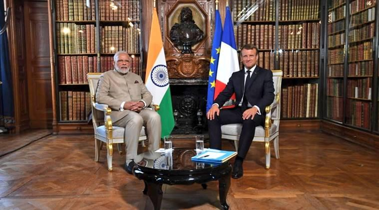 Modi in France, Modi france visit, France on kashmir, rafale jets, rafale deal, FRance on article 370, emmanuel macron, modi macron meeting, Modi french president meeting
