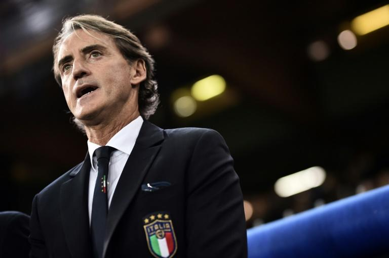 Roberto Mancini got his first competitive win as Italy coach