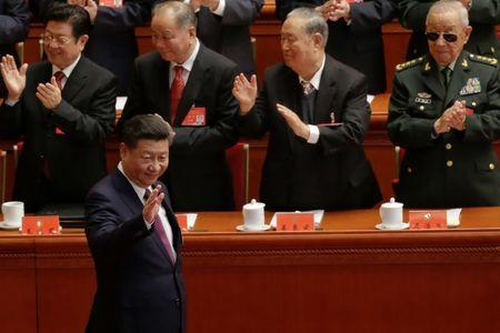 Chinese President Xi Jinping arrives for the opening. REUTERS/Jason Lee