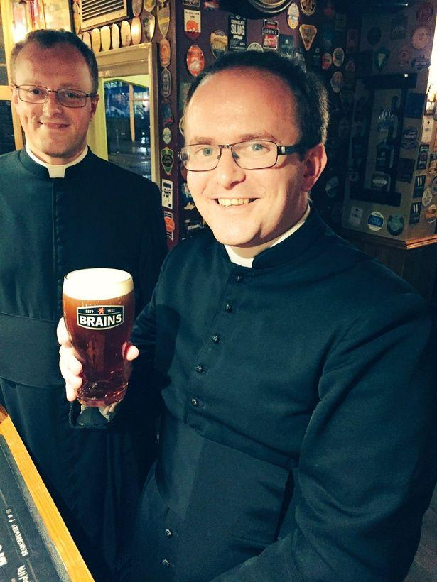 The priests were mistaken for a stag do in fancy dress (Picture: Matt Morgan)