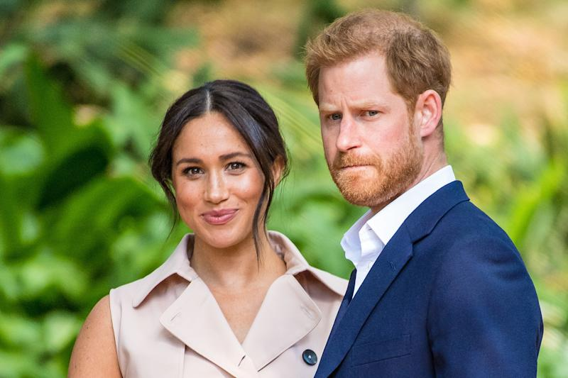 Prince Harry and Meghan, Duke and Duchess of Sussex made an official personal statement that they have chosen to quit their frontline roles as 'senior' Royals and start being financially independent. Seemingly without knowledge of the Queen, Prince Charles or Prince William, because Buckingham Palace said: 'Discussions with the Duke and Duchess of Sussex are at an early stage. We understand their desire to take a different approach, but these are complicated issues that will take time to work though.' (Photo by DPPA/Sipa USA)