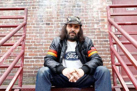 Erik Brunetti, Los Angeles artist and streetwear designer of the clothing brand FUCT, sits for a portrait in Los Angeles, California, U.S., April 7, 2019. REUTERS/Patrick T. Fallon