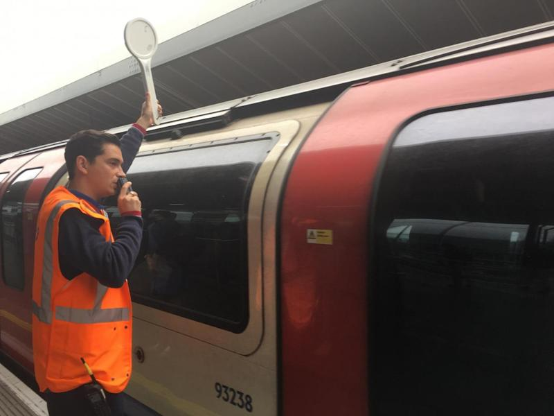Commuters have hailed David Cohen for his upbeat announcements on the platform