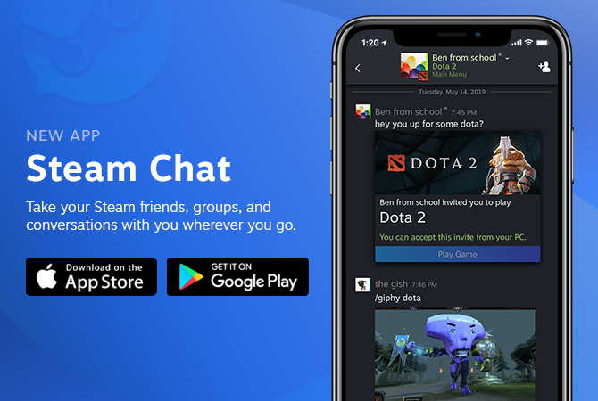 After Steam Link, Valve Now Releases Steam Chat App