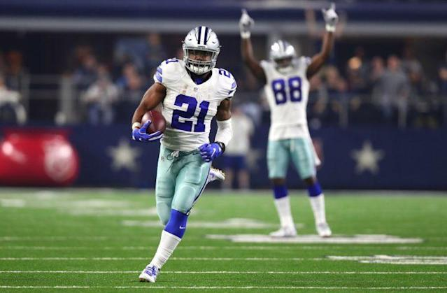 Ezekiel Elliott's huge rookie year boosted the Cowboys to the top spot. (Getty)