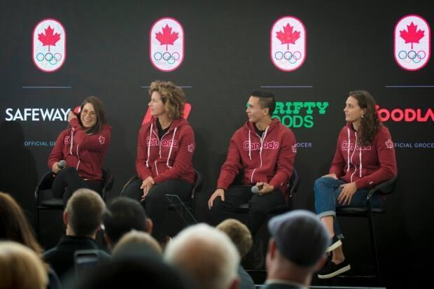 Sean McColl, centre right, is set to be among Canada's first representatives in sport climbing, along with Alannah Yip (not pictured), when the sport makes its Olympic debut in Tokyo. (Tijana Martin/The Canadian Press - image credit)