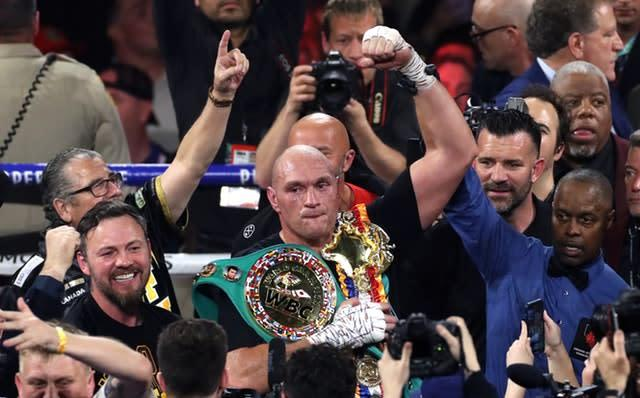 Tyson Fury defeated Deontay Wilder in February to claim the WBC world heavyweight title (Bradley Collyer/PA)