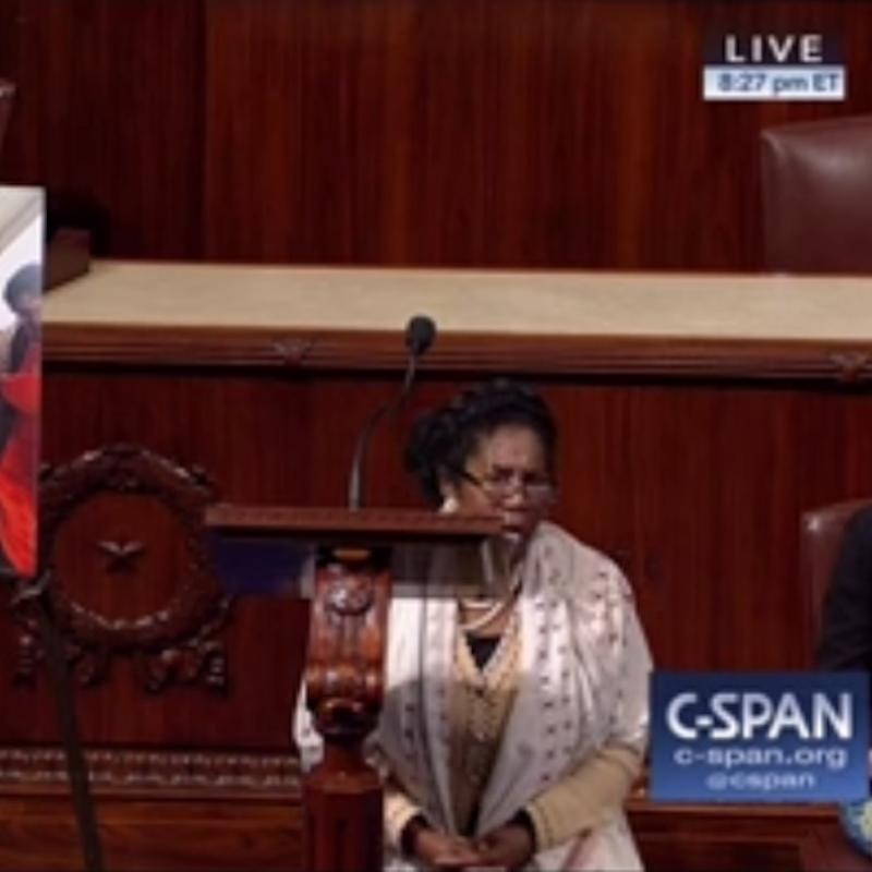 Watch 1 Brave Congresswoman Take a Knee on the House Floor in a Powerful Moment of Protest