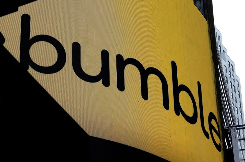 FILE PHOTO: Bumble Inc. (BMBL) makes stock IPO on Nasdaq in New York City