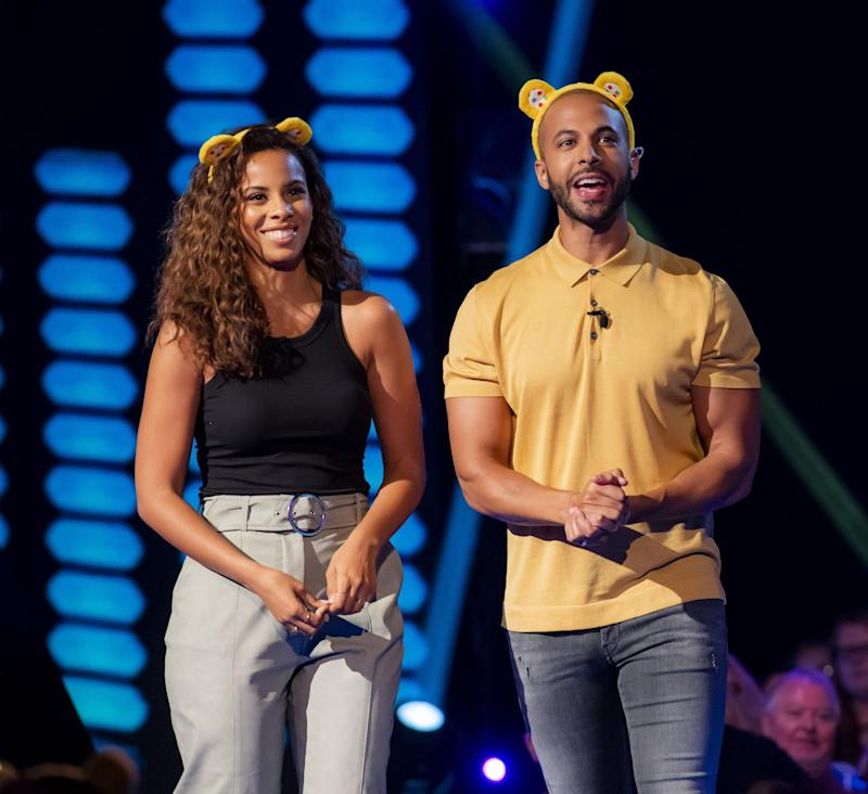 Hosts: Rochelle and Marvin Humes presenting The Hit List (BBC)