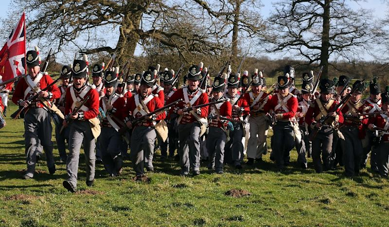 Belgium this week hosts days of commemorative events and mock battles to mark the 200th anniversary of the Battle of Waterloo that shaped the face of Europe, at a time when the continent's unity is under threat (AFP Photo/Geoff Caddick)