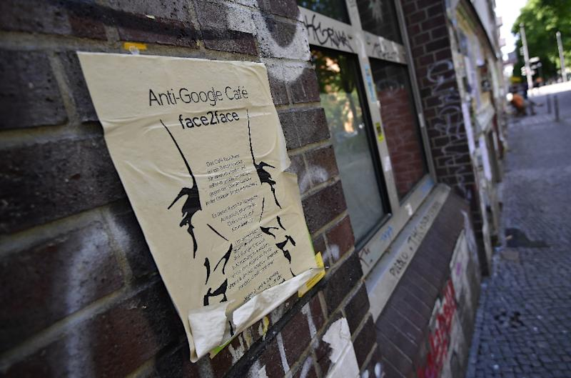 Anti-gentrification activists in Kreuzberg want to keep Google out of their bohemian neighbourhood (AFP Photo/Tobias SCHWARZ)