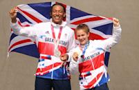 <p>An incredible day in British cycling, Bethany Shriever and Kye Whyte secured gold and silver respectively in the women's and men's BMX final. Shriever, 22, finished just nine-tenths of a second ahead of second-place Colombia's Mariana Pajon.</p>