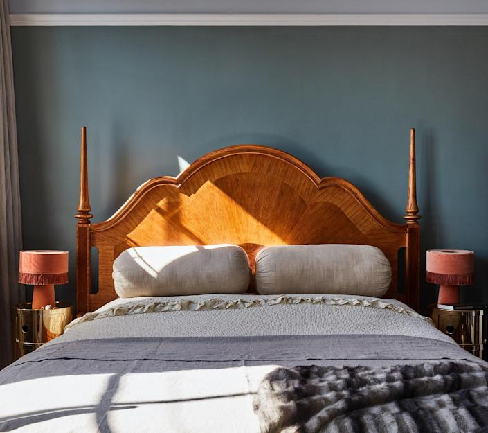 """AFTER: The couple also installed a high-tech mood-lighting scheme throughout the house, allowing them to change the lighting in each room with the flick of a switch. """"We don't often get to do that in our residential projects because it's so expensive,"""" Anna says. """"So this was a treat to ourselves."""""""