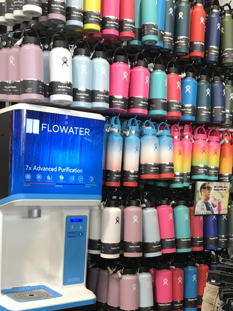 America's Original California Surf Lifestyle Brand Waves Goodbye to Plastic Waste With New-tech FloWater Refill Stations