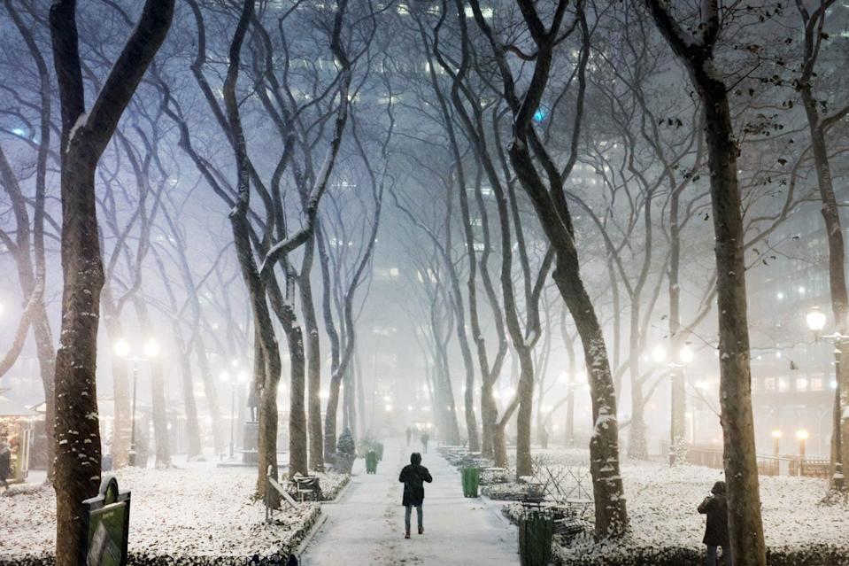 <p>New York City's Central Park, seen here, recorded 10 inches, more snow than it received all last winter.</p>