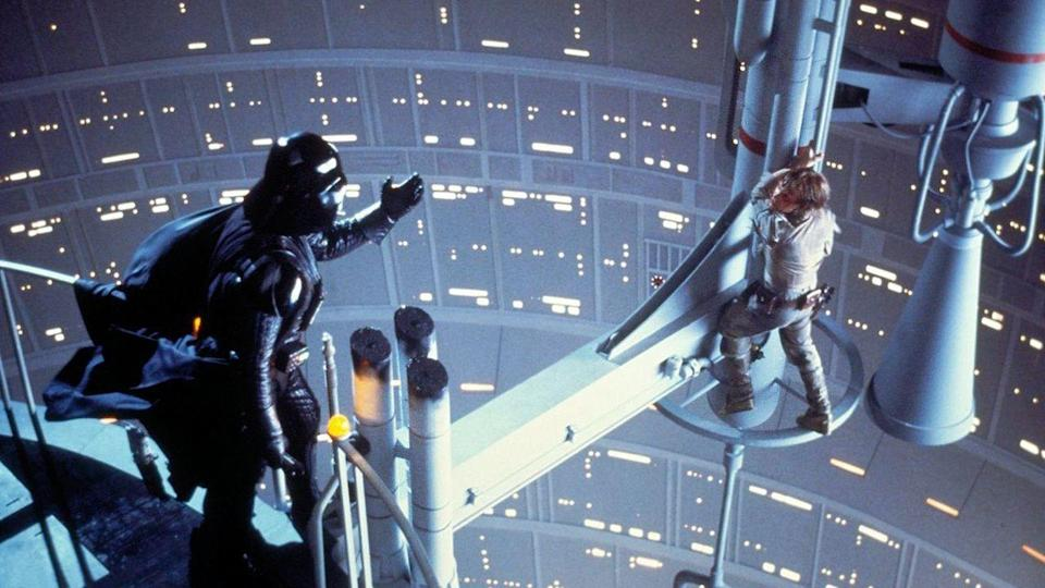 <p> It's tough competing with A New Hope, but Empire Strikes Back just about edges the original Star Wars. Controversial upon release, Episode 5 has everything we love about the series: a burning romance, a familial twist, and, most importantly, hope. Yes, despite the darkness of Empire – which features torture, betrayal, disturbing visions, and Luke losing a hand – there's never a feeling that all is lost. Our heroes are good, they fight for justice, and they will never give up. </p> <p> Empire also includes more iconic scenes than almost any other movie. There's Luke and Vader's battle, Leia telling Han she loves him, Luke training with Yoda, and Luke dangling from an antenna at the bottom of Bespin. This movie changed cinema, and there's no overstating it's importance to so, so many fans. </p>