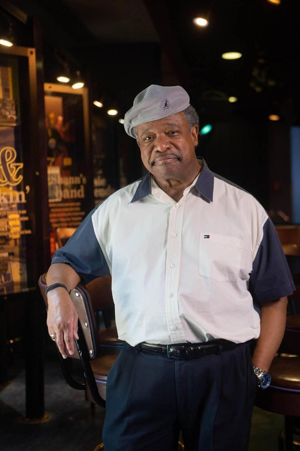 Stanley Banks, photographed at the American Jazz Museum. Banks grew up near 18th and Vine, and jazz informs much of his work.