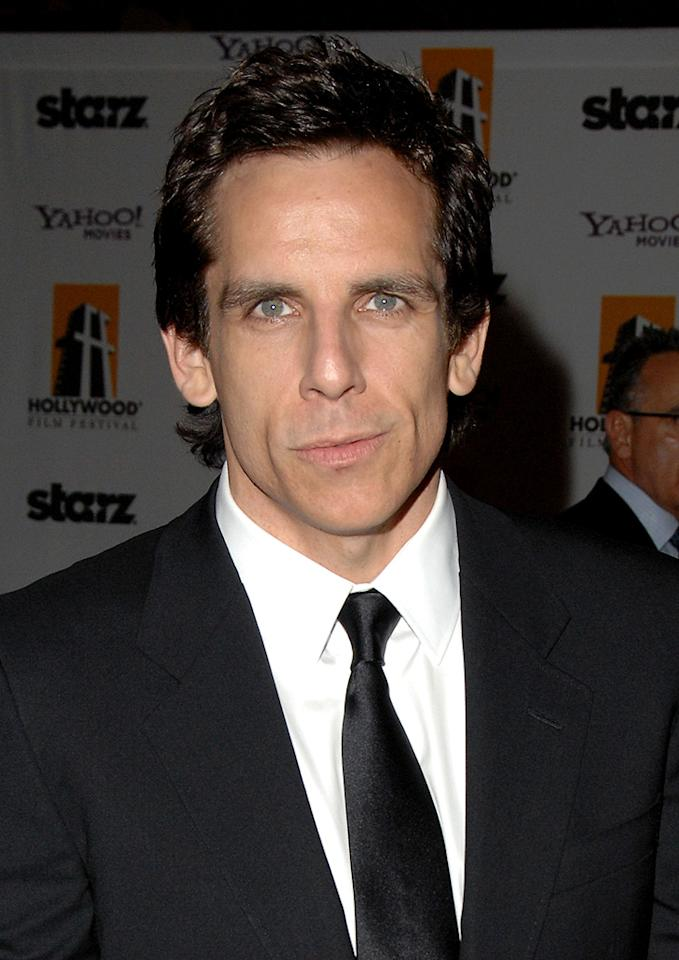 "<a href=""http://movies.yahoo.com/movie/contributor/1800019193"">Ben Stiller</a> at the 12th Annual Hollywood Film Festival Awards Gala in Beverly Hills - 10/27/2008"