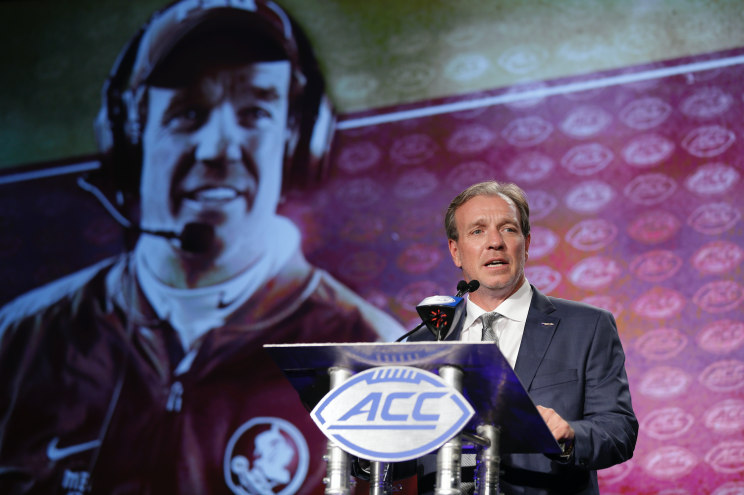 Jimbo Fisher isn't shy about declaring the ACC as the best conference in college football. (AP)
