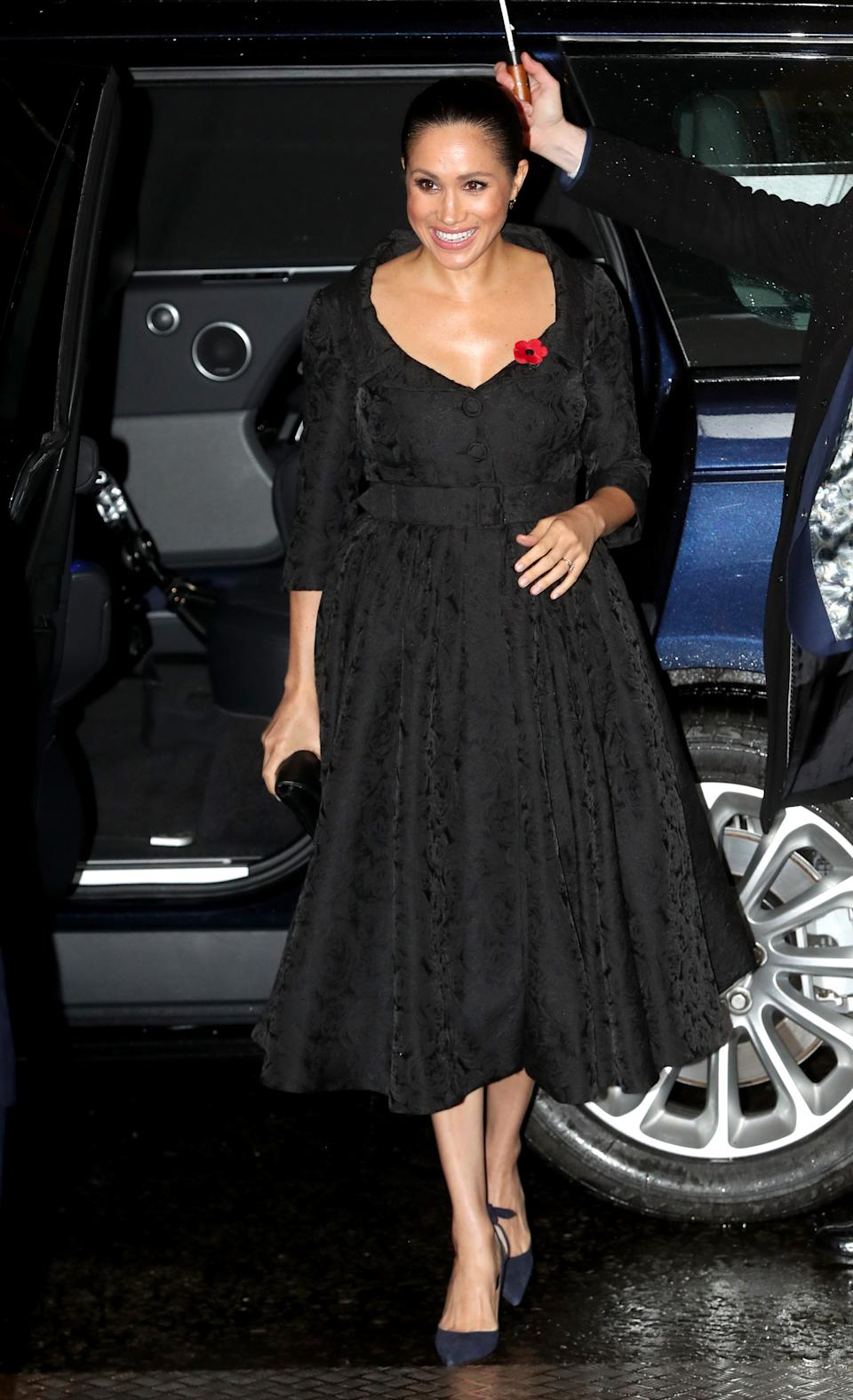Meghan Markle attended the annual Royal British Legion Festival of Remembrance at the Royal Albert Hall in London. (Photo: Chris Jackson/- WPA Pool/Getty Images)