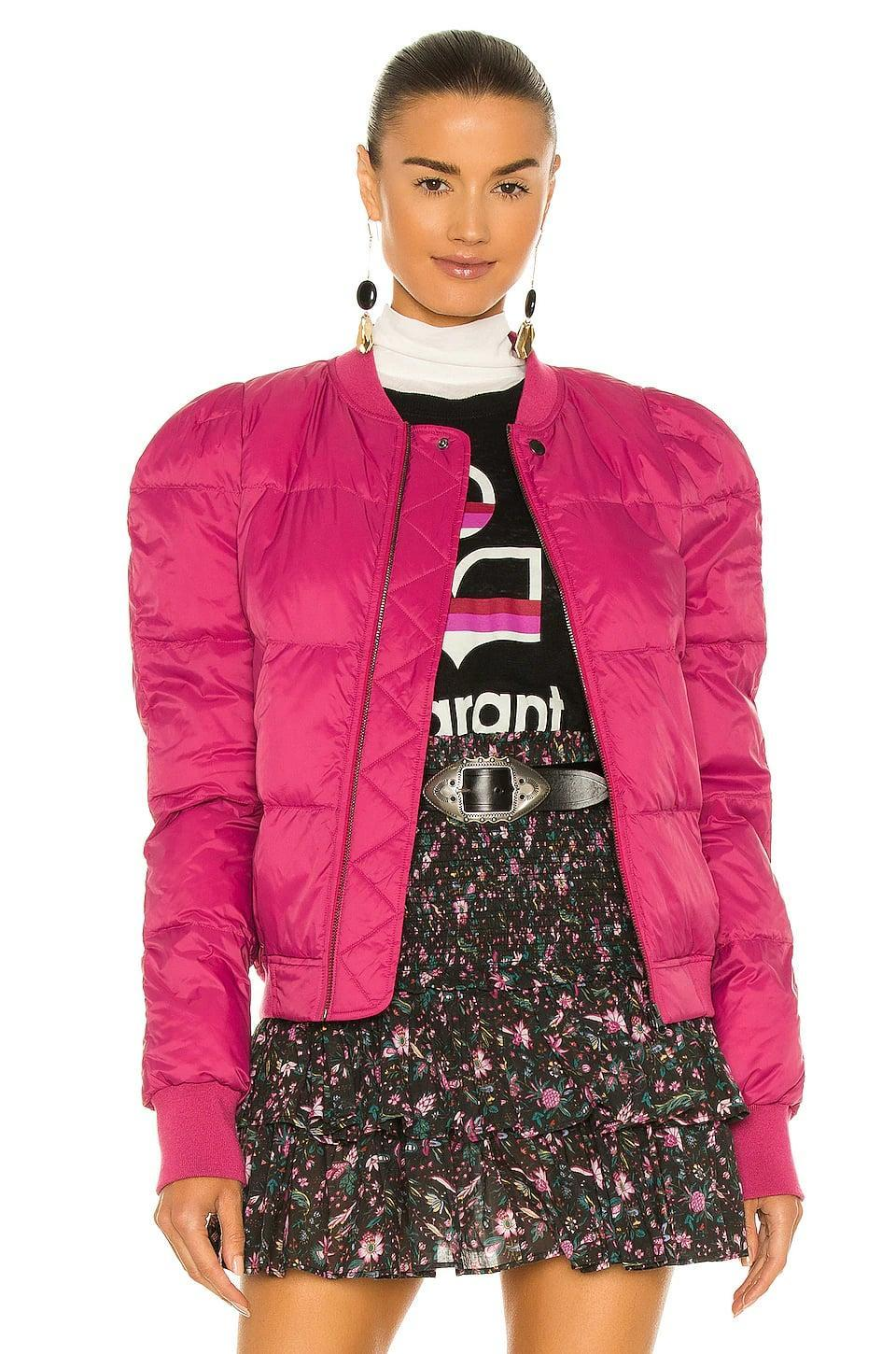 <p>The shoulders on this <span>Isabel Marant Etoile Cody Jacket</span> ($580) are so cool. We love the exaggerated look, and the hot pink adds a fun touch.</p>