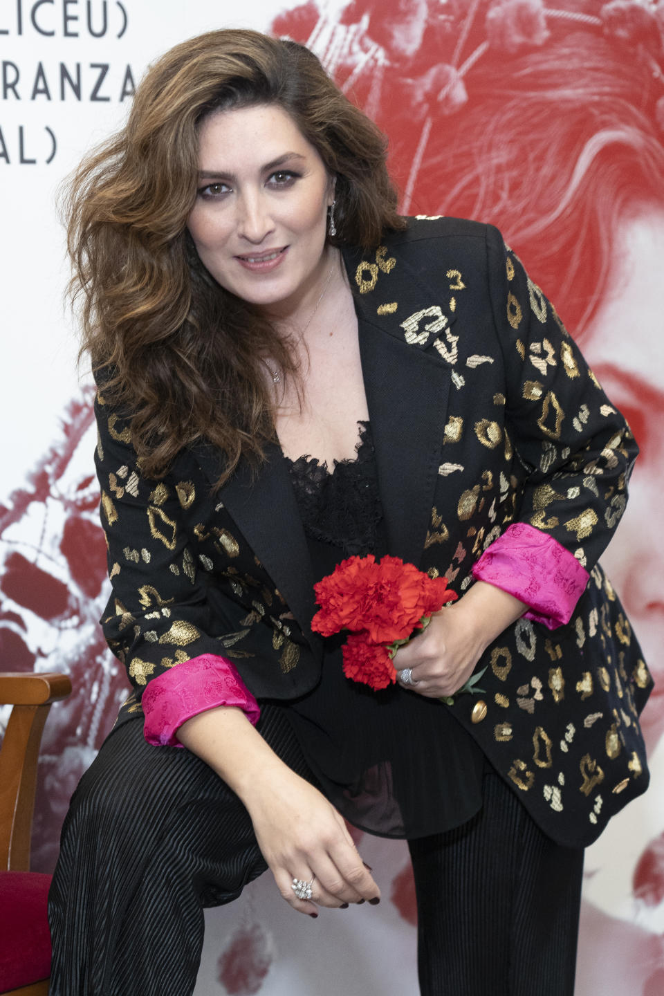 Singer Estrella Morente attends the 'Copla' new album presentation at Royal Theatre on February 21, 2019 in Madrid, Spain (Photo by Oscar Gonzalez/NurPhoto via Getty Images)