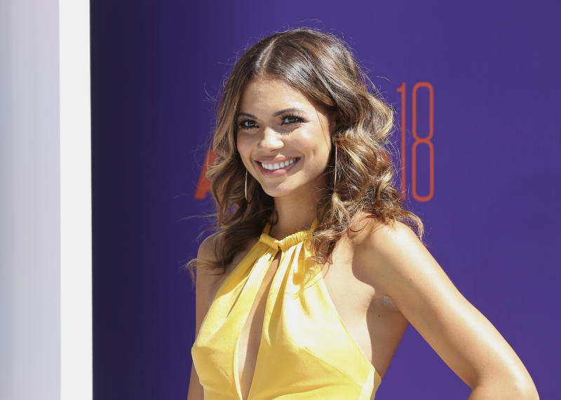 Jennifer Freeman arrives at the BET Awards at the Microsoft Theater on Sunday, June 24, 2018, in Los Angeles. (Photo by Willy Sanjuan/Invision/AP)