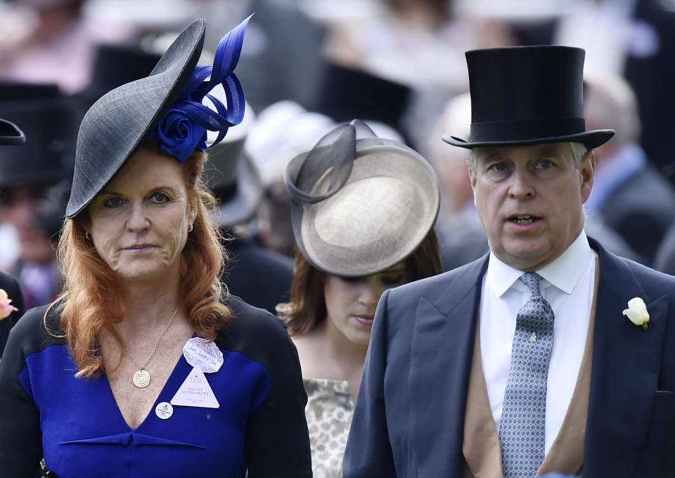 Prince Andrew has remained close with ex-wife Sarah Ferguson (pictured in 2015 at Royal Ascot). (Photo: Reuters/Toby Melville Livepic)