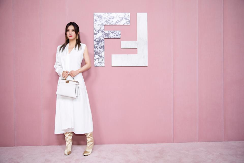 Actress Zhao Wei at Fendi Shanghai show. (PHOTO: Fendi)