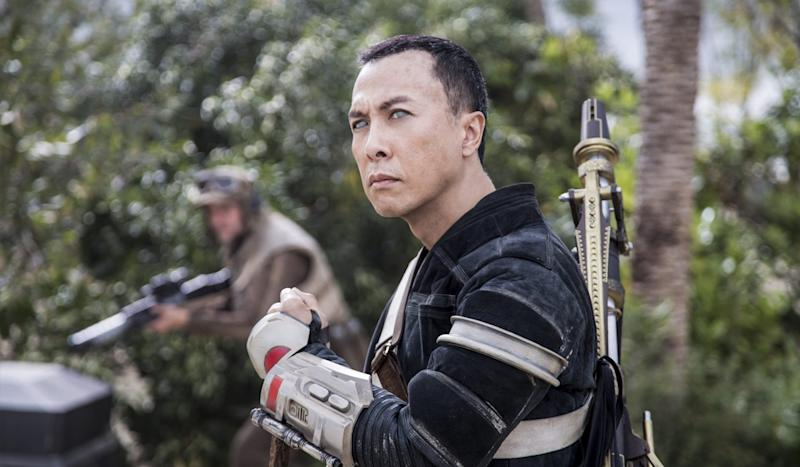 Chinese action star Donnie Yen in 'Rogue One' (Credit: Lucasfilm)