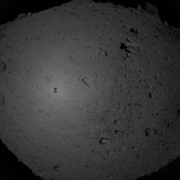Hayabusa 2 shadow on Ryugu