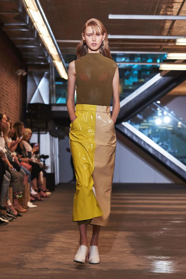 <p><i>A model wearing a split colored skirt. (Photo: ImaxTree) </i></p>
