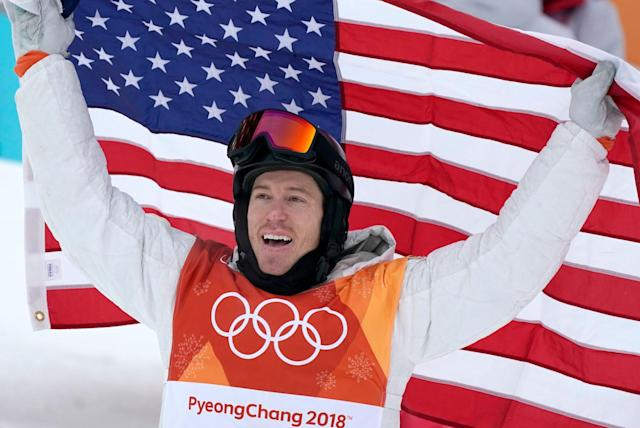 "<p>Snowboarding icon <a href=""http://deadline.com/tag/shaun-white/"" rel=""nofollow noopener"" target=""_blank"" data-ylk=""slk:Shaun White"" class=""link rapid-noclick-resp"">Shaun White</a> made history today as he won his third career gold medal in the men's halfpipe final at the Winter Olympic Games in Pyeongchang, South Korea, marking the 100th medal won by the United States in the Winter Games. With his big win, figures in Hollywood and fellow athletes took to Twitter congratulate him.<br><br></p>"
